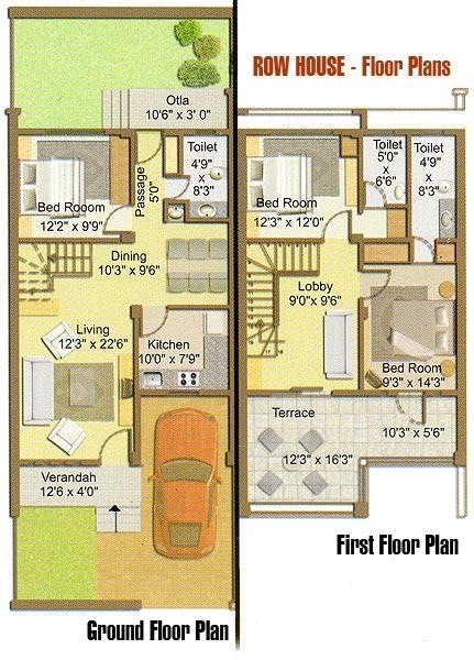 Row House Floor Plan – Raw House Floor Plan